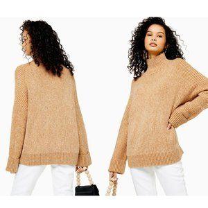 Top Shop Women's Camel Knitted Super Soft Jumper